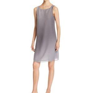 NWT Eileen Fisher Bateau Neck Silk Dress in Pearl